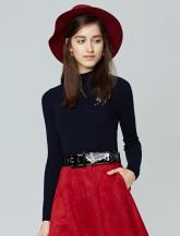 【女装】小高领绣花毛衫