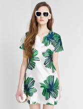 棕榈叶连衣裙