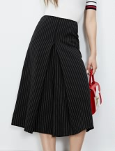 【女装】条纹阔腿裤